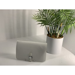 Lucy Cobb Travel Wallet with Purse in White