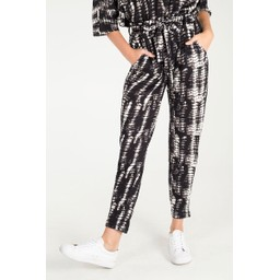 Lucy Cobb Abstract Print Paperbag Trousers  - Black & White