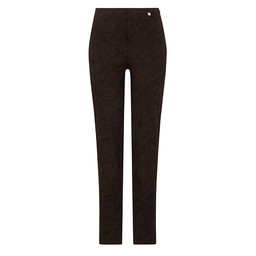 Robell Trousers Marie Jacquard Trousers in Black