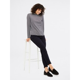 White Stuff Philippa Polo Neck Jersey Tee - Navy