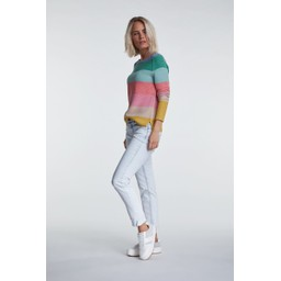 Oui Colourful Block Stripe Jumper - Multicoloured