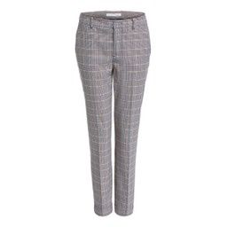Oui Checked Suit Trousers - Brown Check