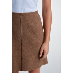 Oui Wool Mini Skirt - Camel