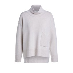 Oui Pocket High Neck Jumper - Stone