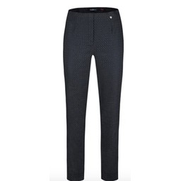Robell Trousers Marie Geo Jacquard Trousers - Grey