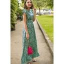 Rosie Ruffle Maxi Dress - Green - Alternative 1