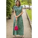 Rosie Ruffle Maxi Dress - Green