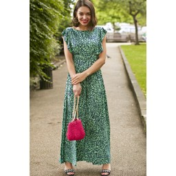 Onjenu Rosie Ruffle Maxi Dress - Green