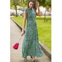 Rosie Ruffle Maxi Dress - Green - Alternative 2