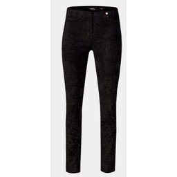 Robell Trousers Rose Suede Leather Optic Trousers - Black