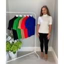 Carla Cable Knit Polo - Winter White