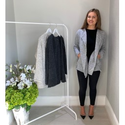 Lucy Cobb Coby Knitted Jacket  - Grey