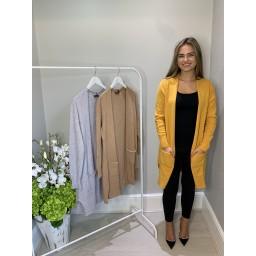 Lucy Cobb Sienna Soft Knit Cardigan - Mustard