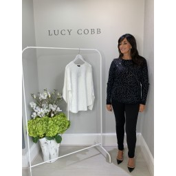 Lucy Cobb Selina Sparkle Swirl jumper - Black