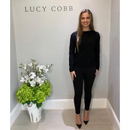 Lucy Cobb Allie Applique Jumper - Black
