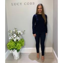 Lucy Cobb Allie Applique Jumper - Navy