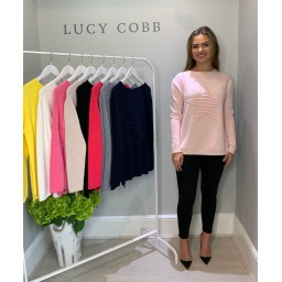 Lucy Cobb Star Jumper in Baby Pink