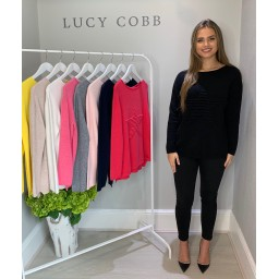 Lucy Cobb Super Soft Luxury Star Jumper in Black (90)