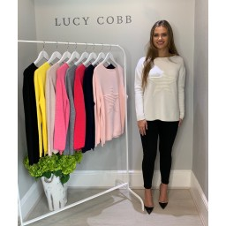 Lucy Cobb Star Jumper in Cream