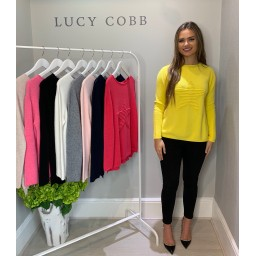 Lucy Cobb Star Jumper in Yellow