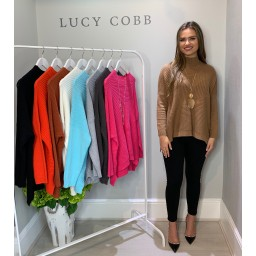 Lucy Cobb Janet Jumper in Camel