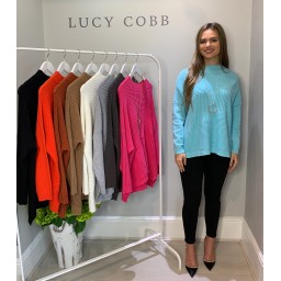 Lucy Cobb Janet Jumper in Soft Turquoise