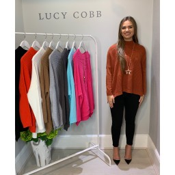 Lucy Cobb Janet Jumper in Rust