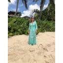 Ruffle Wrap Dress Short - Aqua Pebbles - Alternative 2