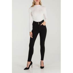 Lucy Cobb Hetty High Waisted Jeans  - Black