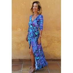 Sophia Alexia Ruffle Wrap Dress Short - Into The Deep