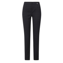 Robell Trousers Marie Tartan Trousers - Navy