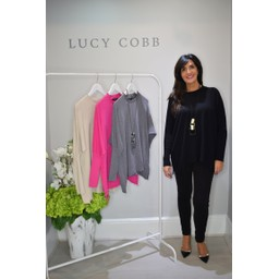 Lucy Cobb Rae Reverse Seam Jumper - Black