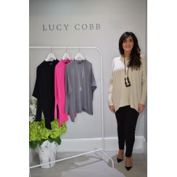Lucy Cobb Rae Reverse Seam Jumper - Stone