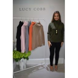 Lucy Cobb Ruby Roll Neck Jumper  - Khaki