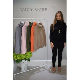 Lucy Cobb Ruby Roll Neck Jumper  - Black