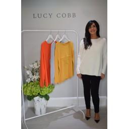 Lucy Cobb Star Jumper in Winter White