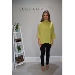 Lucy Cobb Riley Ribbed Neck Jumper - Lime