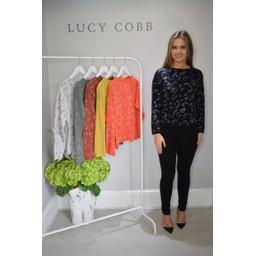Lucy Cobb Gilly Glitter Print Jumper  - Black