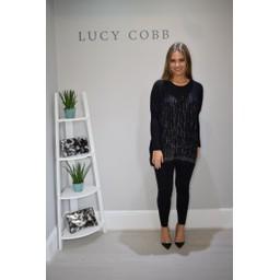 Lucy Cobb Oversized Studded Jumper & Legging Set in Black