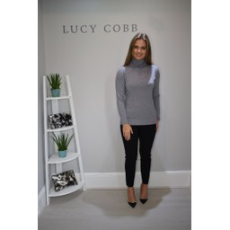 Lucy Cobb Petra Polo Neck - Grey