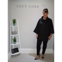 Lucy Cobb Shelly Faux Suede Jacket - Black