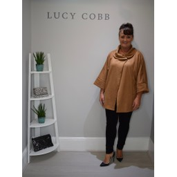 Lucy Cobb Shelly Faux Suede Jacket - Camel