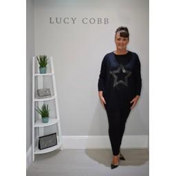 Lucy Cobb Suzie Star Jumper  - Black
