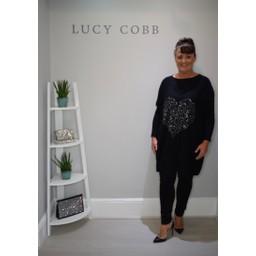 Lucy Cobb Heart Motif Jumper  - Black