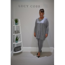 Lucy Cobb Oversized Studded Jumper & Legging Set in Grey