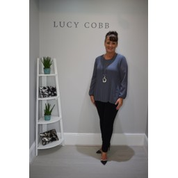 Lucy Cobb Connie Long Sleeve Blouse in Grey