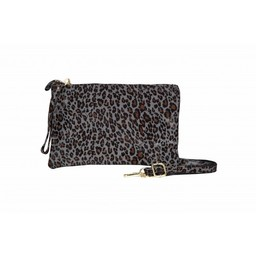 Malissa J Leather Zip Wallet - Leopard Print