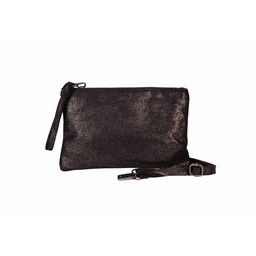 Malissa J Leather Zip Wallet - Pewter