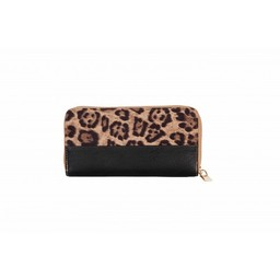 Malissa J Leopard Zip Purse - Black