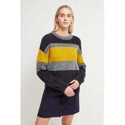 French Connection Rufina Knits Stripe Jumper - Dark Grey